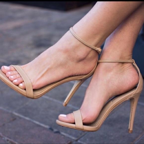(SOLD) STEVE MADDEN Stecy High Heeled Shoe Camel 8